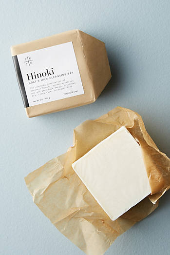 te+te Hinoki Goat's Milk Cleansing Bar