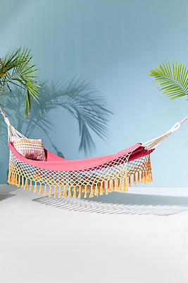 Slide View: 1: Canyon Fringe Outdoor Hammock