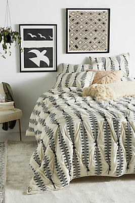 Slide View: 1: Embroidered Lilou Quilt