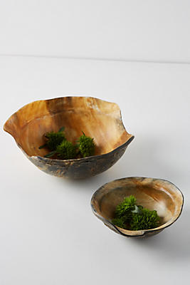 Slide View: 1: Reclaimed Horn Bowl Set