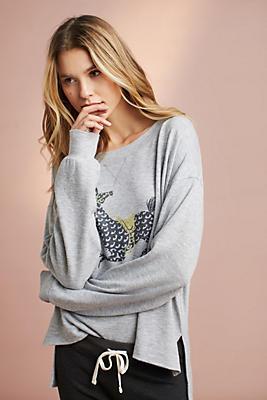 Slide View: 1: Brushed Fleece Horse Sweatshirt