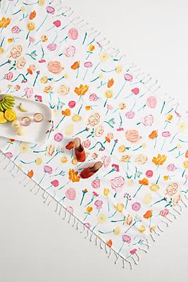 Slide View: 1: Paint + Petals Picnic Blanket