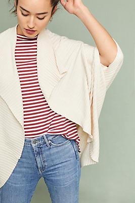 Slide View: 1: Ribbed Cocoon Kimono