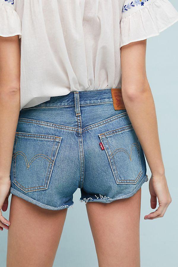 high rise shorts - Blue Levi's YJo6j4nxy