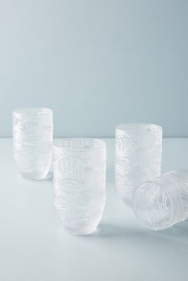 Pesce Tumblers, Set Of 4 by Anthropologie