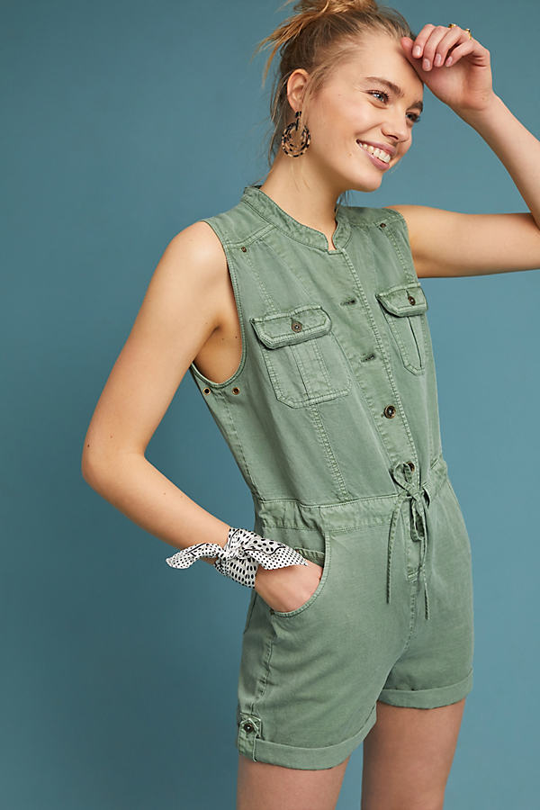 Utility-Playsuit - Green