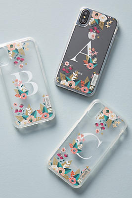Slide View: 1: Casetify Floral Monogram iPhone Case
