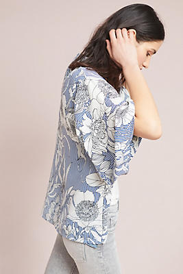 Slide View: 2: Savannah Floral Kimono