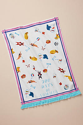 Slide View: 1: Dog Days Dish Towel