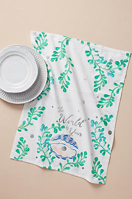 Slide View: 1: Oyster Dish Towel