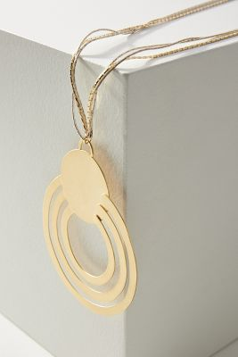 Solar Orbit Pendant Necklace by Anthropologie