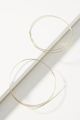 Eternity Hoop Earrings  -    GOLD