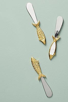 Slide View: 1: Sardine Cheese Knife Set