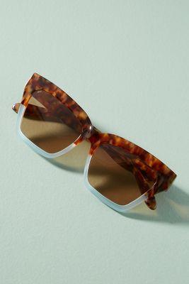 Sonix   Sonix Half + Half Tortoise Sunglasses  -    Powder Tortoise
