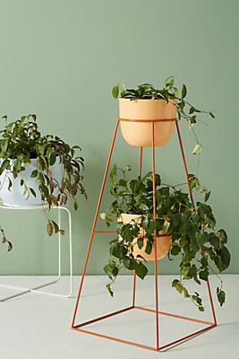 Slide View: 6: Kizer Indoor/Outdoor Double Plant Stand