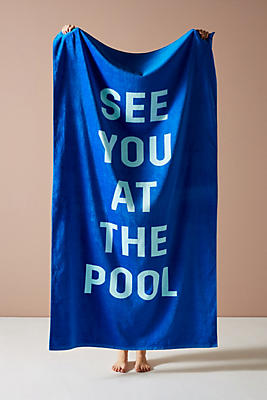 Slide View: 1: Ban.do See You At The Pool Beach Towel