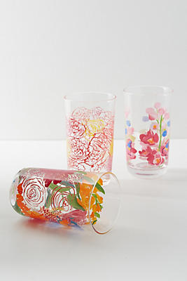 Slide View: 1: Paint + Petals Juice Glass