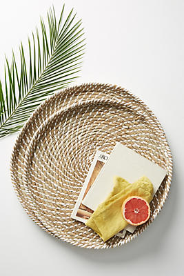 Slide View: 1: Seagrass Tray Set