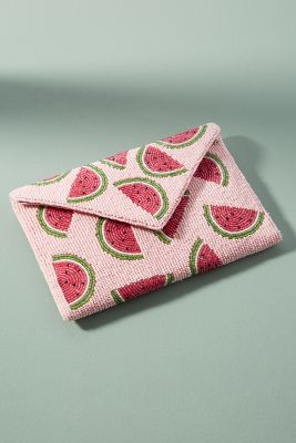 From St. Xavier   Beaded Watermelon Pouch  -    PINK
