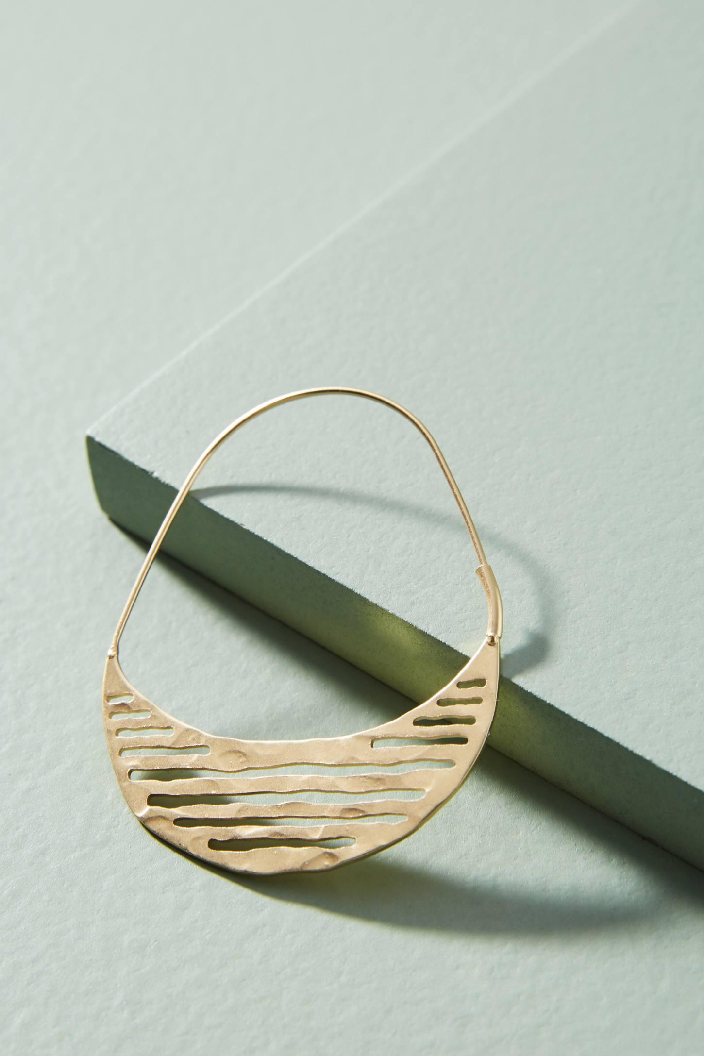 Anthropologie Striped Hoop Earrings 7bPq1d