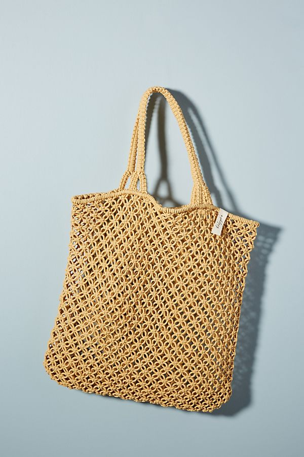 Macrame Woven Tote Bag