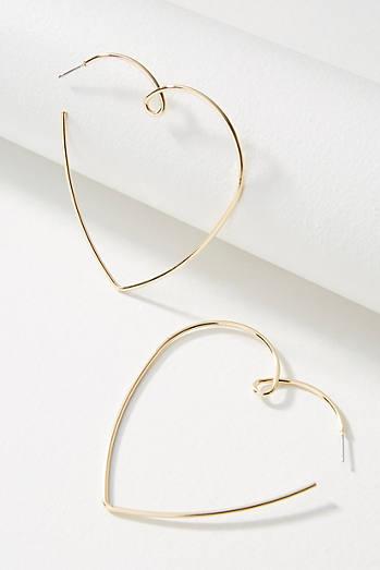Anthropologie Jenny Hoop Earrings AcrmGEvJGT