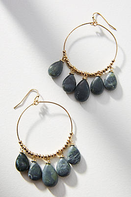 Anthropologie Daria Hooped Drop Earrings e7Ebp6PIcV