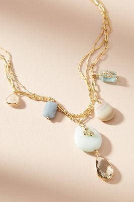 Mira Layered Y-Necklace  -    GOLD