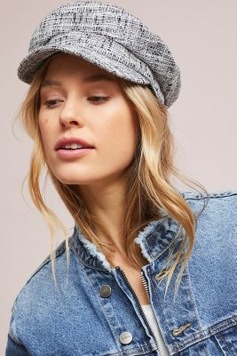 Rafaella Tweed Engineer Cap by Anthropologie