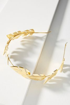 Epona Valley   Lagatha Leaf Headband  -    GOLD