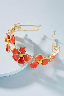 Epona Valley   Wild Poppies Headband  -    RED