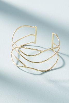Woven Web Cuff  -    GOLD