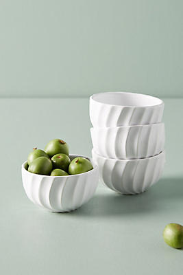 Slide View: 1: Swirled Nut Bowl Set