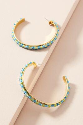 Mignonne Gavigan   Zadie Radie Hoop Earrings  -    BLUE