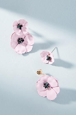 Anthropologie May Flowers Front-Back Earrings AyRk8ic