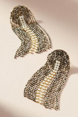 April Showers Drop Earrings  -    BLACK & WHITE