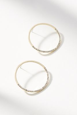Genevieve Hooped Post Earrings by Anthropologie