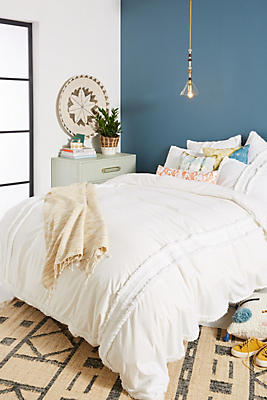Slide View: 1: Fringed Mirabella Duvet Cover