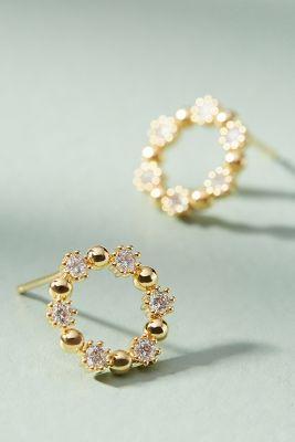 Sunrise Hooped Post Earrings  -    GOLD