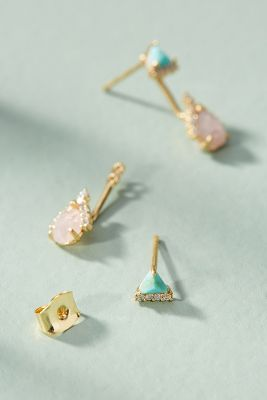 Lelia Front-Back Earrings  -    ROSE
