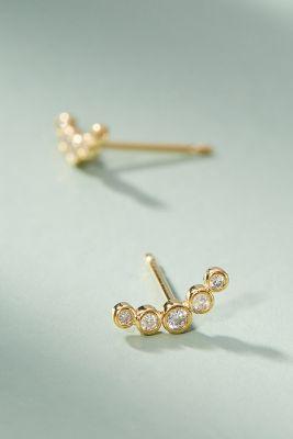 Magdalene Climber Post Earrings  -    GOLD