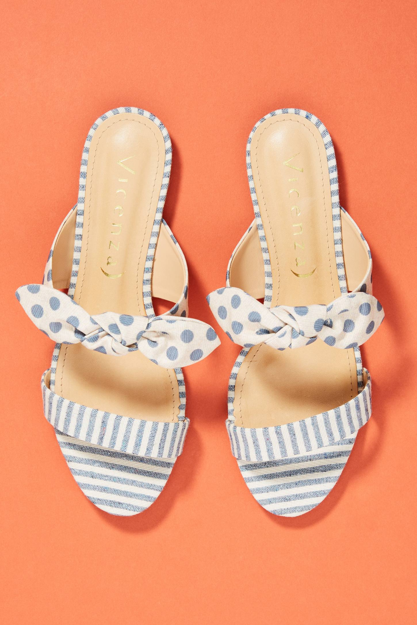 Vicenza Striped + Dotted Slide Sandals | Anthropologie