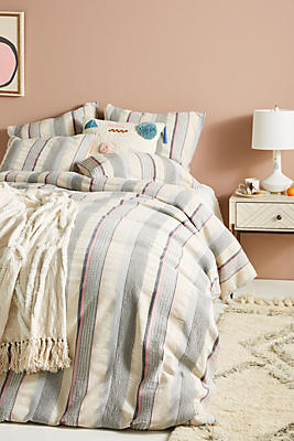 Slide View: 1: Woven Camila Duvet Cover