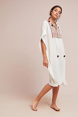 Slide View: 1: Bilson Embroidered Caftan
