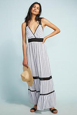 Slide View: 1: Jaluit Striped Maxi Dress