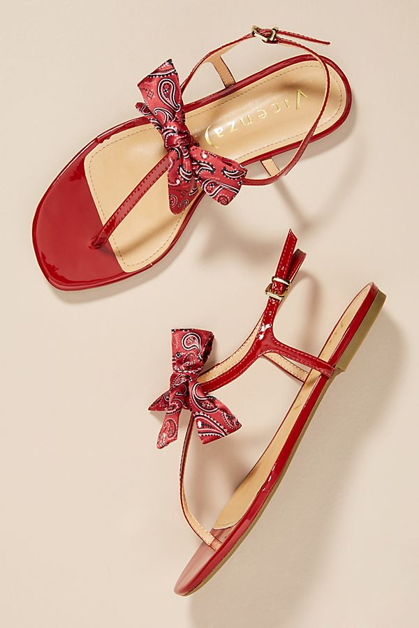 Vicenza Bandana Bow Thong Sandals | Anthropologie