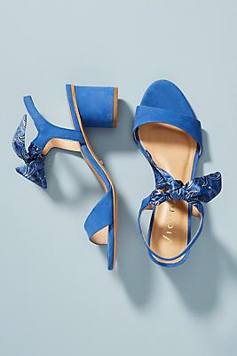 Vicenza Bandana Bow Heeled Sandals
