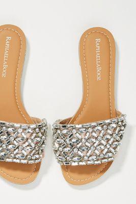 Raphaella Booz Embellished Slide Sandals by Raphaella Booz