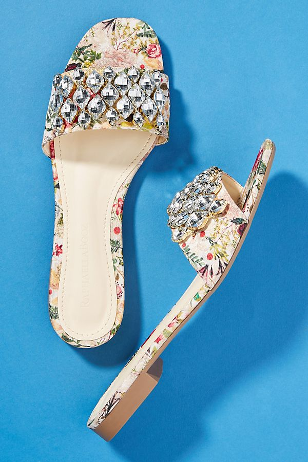 Slide View: 2: Raphaella Booz Embellished Slide Sandals