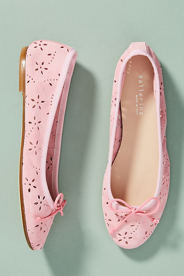 Ballerina Floral Eyelet Ballet Flats free shipping under $60 for sale 2014 free shipping cost sale extremely cheap huge surprise 8Yita0ZWFp